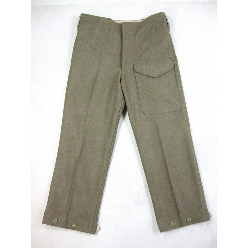 WW2 British Army P37 Battle Dress Officer Wool Trousers Pants