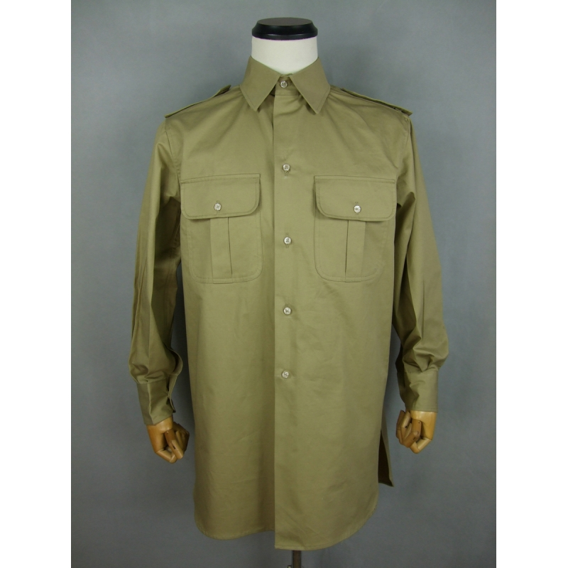 WWII Italy Italian Officer Colonial Tropical Sand Shirt