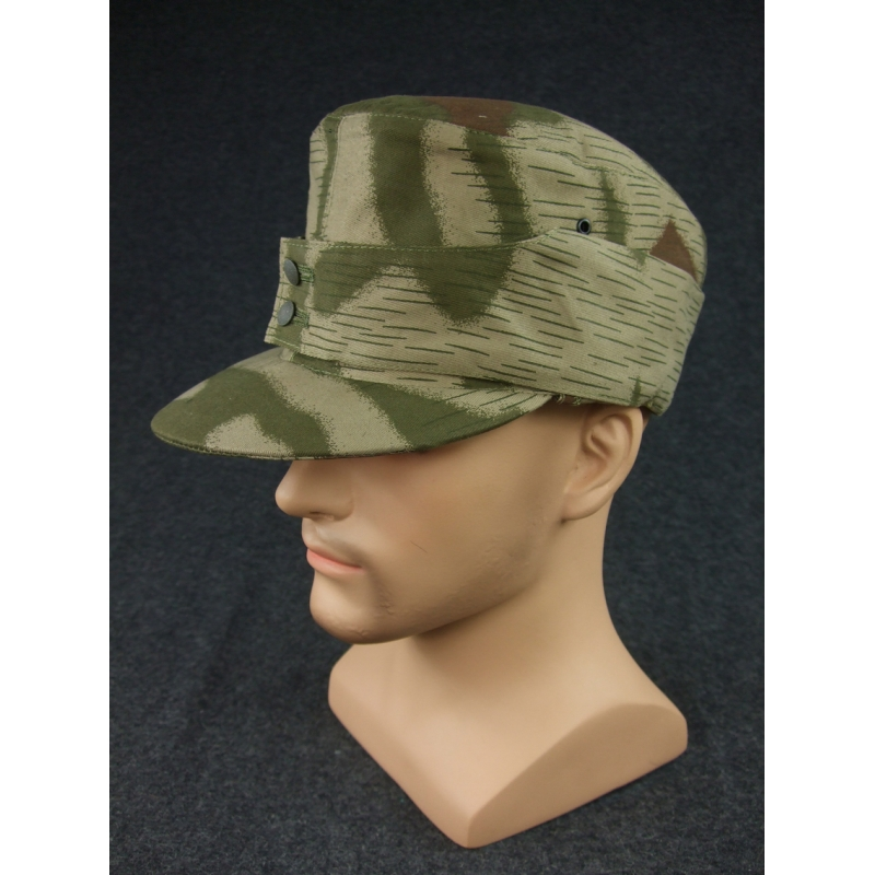 WH Gebirgsjager Mountain Troops Tan Water Camo Field Cap