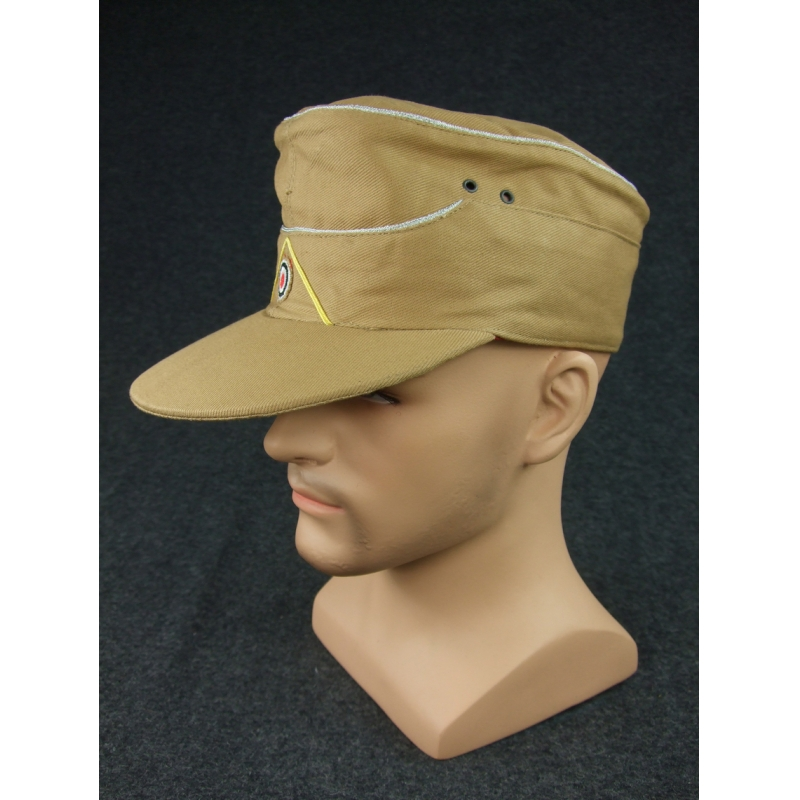 WWII German DAK Field Cap Officer Sand