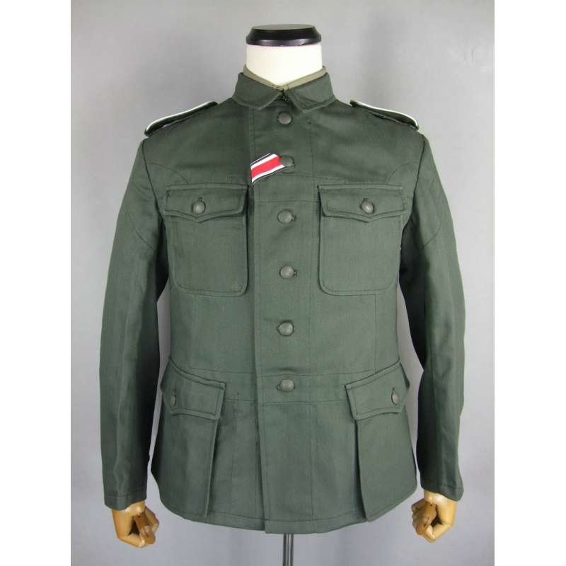WWII German WH Soldier HBT M42 Field Tunic Jacket